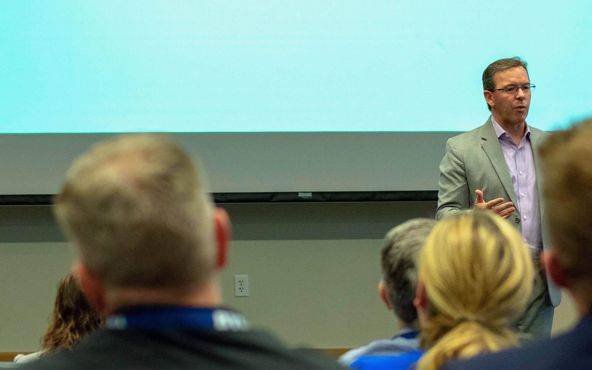 Sports Conference Presenter at BYU EMBA CareerBoost Keynote